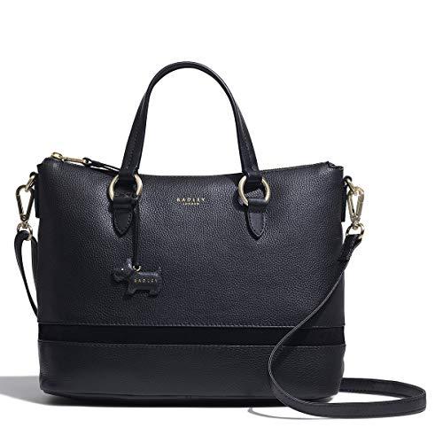 Radley London Eel Alley Large Zip-Top Multiway Handbag in Bl
