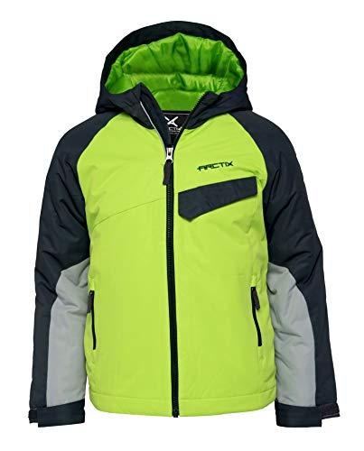 Arctix Boys Fast Lane Insulated Winter Jacket, Lime Green, Medium