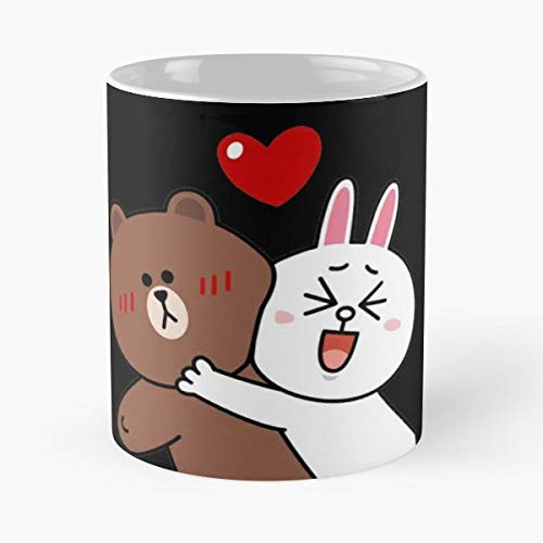 Cute Lovers Forever Classic Mug -11 Oz Coffee - Funny Sophisticated Design Great Gifts White-situen.