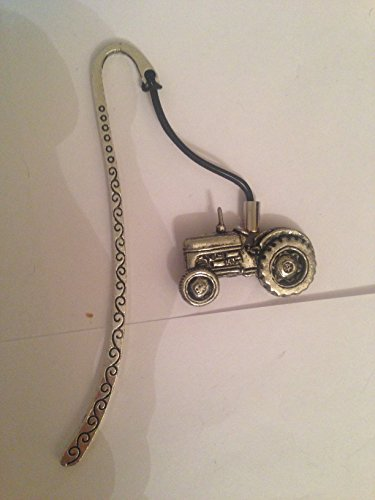 Tractor PP-T10 Pattern bookmark with cord 3D English pewter charm