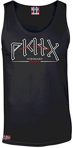 NORDGARD MUCKISHIRT RUNENSTURM Wikinger Shirt für Damen und Herren des Modelabels (XXL)