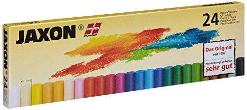 Honsell 47424 - Jaxon Ölpastellkreide, 24er Set im Kartonetui, brillante, lichtechte Farben, ideal für Künstler, Hobbymaler, Kinder, Schule, Kunstunterricht, frei von Schadstoffen