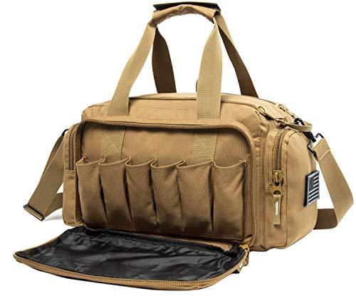 AIRTTUZ Range Bag   Gun Range Duffle Bag for Handguns and Ammo,USA Flag Patch Included....