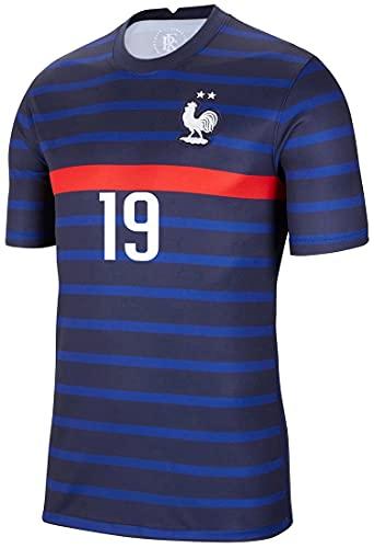 MEDUOLA - Maglietta da uomo, maglia da giocatore della nazionale francese Euro 2021, maniche corte, per calcio e sport B19 XS