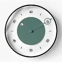LSNLNN 壁掛け時計、時計レストラン、30-35Cmコーヒーショップキッチンラウンドシンプルな装飾,C,30 * 30Cm