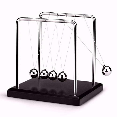 US.SSR Newton's Cradle - Demonstrate Newton's Laws with Swinging Balls - Office Desk Decoration