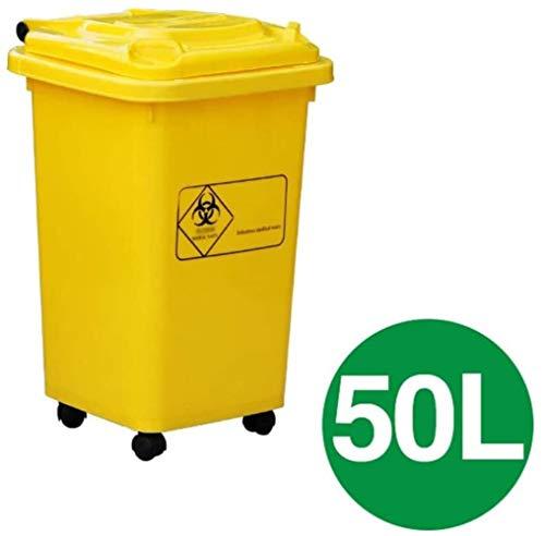 ? De medische vuilnisbakken van vuilnis pm ziekenhuis grote outdoor bakken kunnen dikke plastic afval rollen hergebruik van papier bakken geel compost 50L / 100L bakken, afmetingen: 100L Kleur: Geel