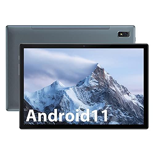 Tablet 10.1 Pulgadas OSCAL Pad8, Android 11 Tableta 64GB + 4GB (TF 128GB), 1.6GHz Octa-Core Tablets Grandes,5G WiFi 4G LTE Dual SIM Tabletas,6580mAh,1920x1200 FHD+,Bluetooth 5.0,Face ID,OTG,GPS (Gris)