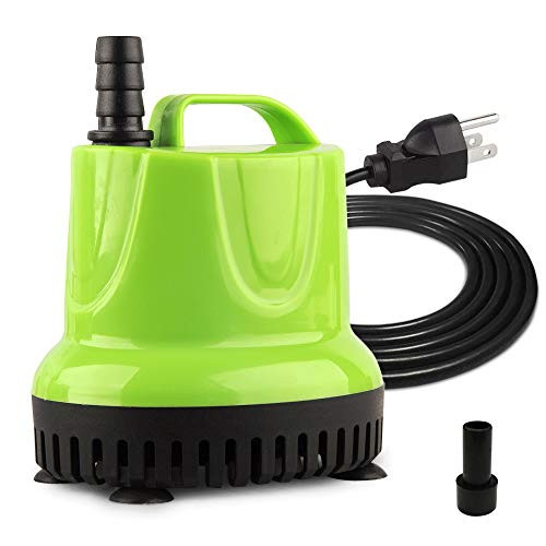 FREESEA 160 GPH 12W Submersible Water Pump for Pond Aquarium Hydroponics Fish Tank Fountain Waterfall