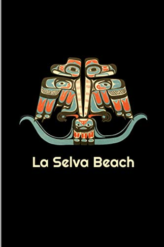 La Selva Beach: California Pacific Northwest Coast Native American Indian Tribal Thunderbird Totem Art Gift Wide Ruled Lined Notebook - 120 Pages 6x9 Composition