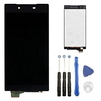 【mobadegi】Xperia Z5 フロントパネル 工具 セット 液晶 Lcd フロントガラスデジタイザ (黒)