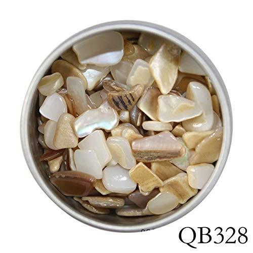 GUANGUA Boîte de décoration d'ongles 3D, Pierre de Flocon de Coquille de Perle Naturelle Brillante, Peut être utilisé pour Les Accessoires de manucure