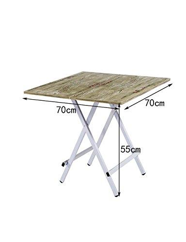Simple ménage Portable Table Pliante Table à Manger (4 Couleurs, 4 Tailles Disponibles) (Couleur : D, Taille : L*W*H:70 * 70 * 55cm)