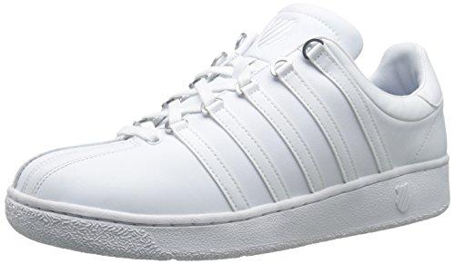 K-Swiss Men's Classic VN Sneaker, White/White, 8