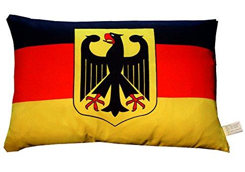 Deutschland mit Adler Kissen Fahnen Deko Autokissen Deutschland mit Adler Fan Kissen beide Seiten bedruckt , ca. 28 x 40 cm