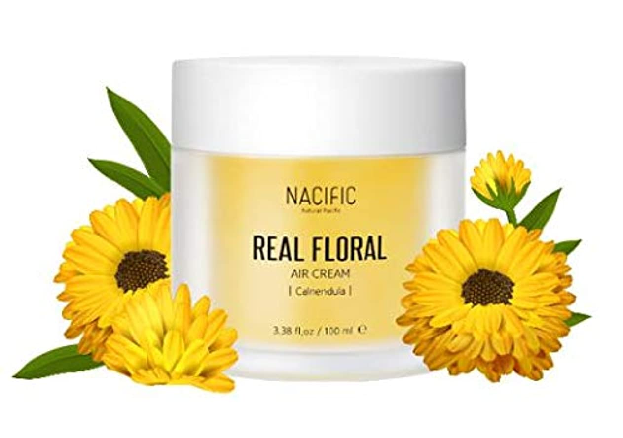 平和なトレイビスケット[Nacific] Real Floral Air Cream 100ml (Calendula) /[ナフィック] リアル カレンデュラ エア クリーム 100ml [並行輸入品]