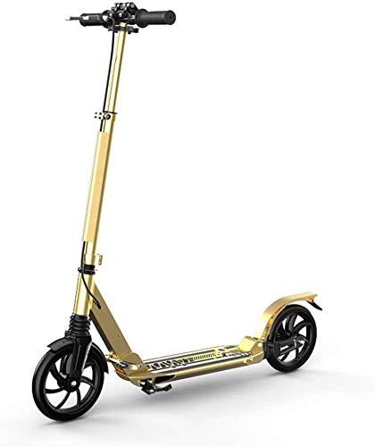 Scooter H- Patinete Kick Unisex Adult Fake Scooters con Freno De Mano, Scooters De Cercanías Plegables Ajustables con Altura con Ruedas Grandes, Regalos De Cumpleaños para Adultos/Adolescentes/Niñ