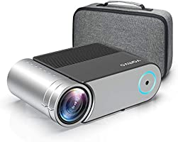 """Mini Projector, Vamvo L4200 Portable Video Projector, Full HD 1080P 200"""" Display Supported; Outdoor Movie Projector 3800..."""