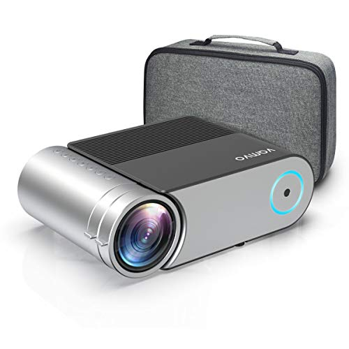 "Mini Projector, Vamvo L4200 Portable Video Projector, Full HD 1080P 200"" Display Supported; Outdoor Movie Projector 3800 Lux with 50,000 Hrs,..."