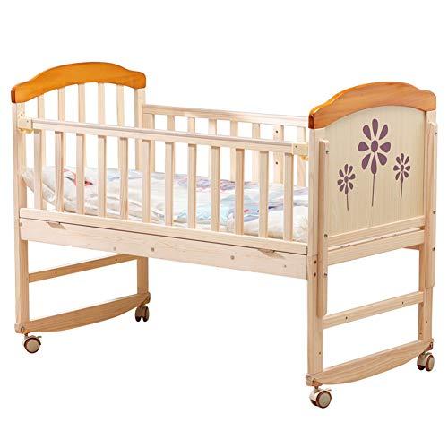 XYSQ Deluxe Cuna De Madera,Minicuna Colecho Cuna para Bebé,Natural Sin Tratamientos,Respirable Durable para Interiores Aire Libre Ventilación