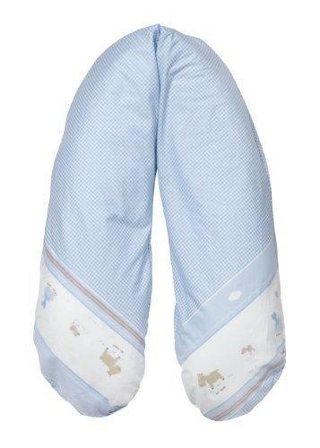 Joyfill Stillkissen Waschbarer Bezug für Flexofill Schwangerschaftskissen 170x34cm - 542blau karriert