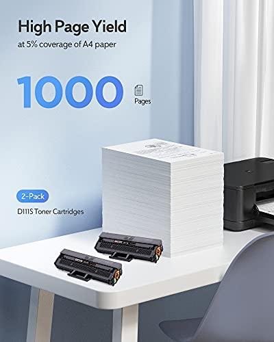Zambrero MLT-D111S D111S Cartucho Tóner Compatible para Samsung Xpress SL-M2070 SL-M2026 SL-M2020 SL-M2026W SL-M2070W SL-M2022 SL-M2070FW (2 Negro)