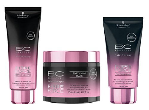 Schwarzkopf BC Bonacure Hairtherapy Fibre Force Trio Shampooing 200 ml + Sealer Fortifying 150 ml + Traitement 150 ml