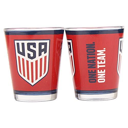 USA Soccer Team'One Nation' 2oz Shot Glass 2-Pack