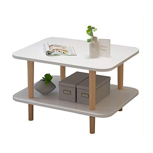 HAIZHEN Tables basses Petite table à café à 2 niveaux, ensemble de table de rangement pour salle de séjour, table d'appoint pour balcon (taille : 59×39×52cm)