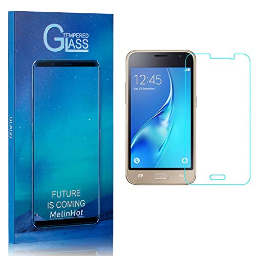 Displayschutzfolie für Samsung Galaxy J1 Ace, MelinHot Ultra klar Schutzfilm aus Gehärtetem Glas, Anti Öl, Anti Kratzen, Hoch Transparenz, 3 Stück