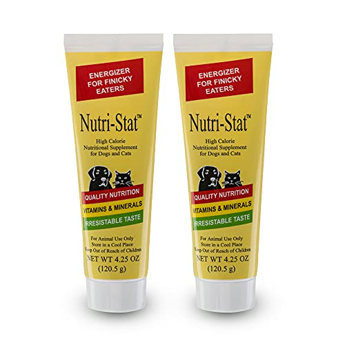 Tomlyn Nutri-Stat Malt-Flavored High Calorie-Nutritional Gel for Dogs & Cats  4.25oz (Pack of 2)