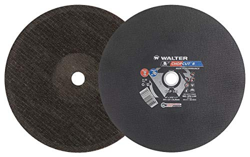 Walter 10P143 CHOPCUT Performance Cutoff Wheel - [Pack of 10] 14 in. Abrasive Wheel with A-30 Grit. Surface Finishing Wheel