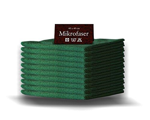 20 x Mikrofasertücher GRÜN 40 x 40cm Profiqualität Gastro Microfasertuch