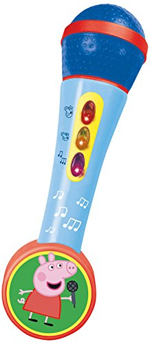 Peppa Pig - Micrófono con Luces + melodías, Multicolor (Reig 662318)