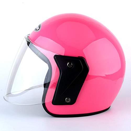 Ecloud Shop® Visor de Bicicleta frontal Levante el casco de invierno modular con protector solar para hombres y mujeres Casco de automóvil eléctrico, casco de bicicleta (rosa)