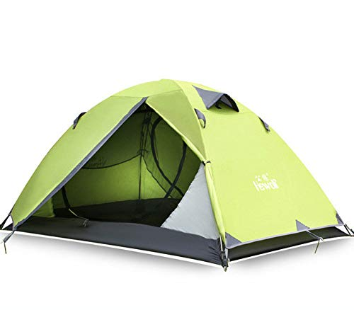 Mdsfe Hewolf Outdoor Ultralight Camping 2 People Aluminum Tent   Double Layer Waterproof Camping Tent Carpas De Camping-Fruit green,A2