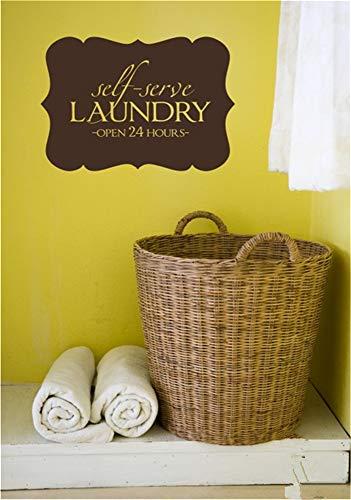 pegatinas de pared disney Lavandería de autoservicio abierto las 24 horas para la sala de lavandería