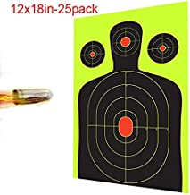 Ani Love Crab shooting Targets - 12 x18 inch - Silhouette Reactive Shooting stickers - Gun - Rifle - Pistol - AirSoft - BB Gun - Air Rifle