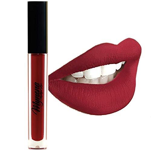 Mynena Deep Red Matte Lipstick Liquid Long Lasting - Elle