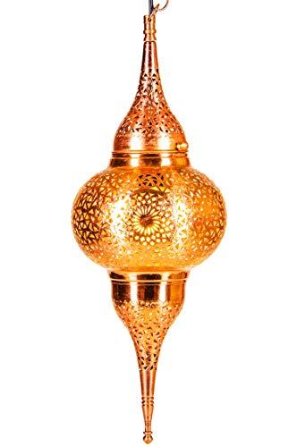 Oosterse messing lamp hanglamp koper Hayati 55 cm | Marokkaans design hanglamp lamp | Oriënt lampen voor woonkamer, keuken of hangend boven de eettafel
