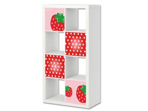 Stikkipix Fresa Cascarillo para muebles | ER03 | Adhesivos adecuados para el estante EXPEDIT/KALLAX de IKEA (mueble no incluido)
