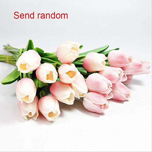XFLOWR 10 stuks bruiloftsdecoratie PU tulp kunstboeket echt touch bloemen tulp namaak bloemen home party jaar decoratie 4