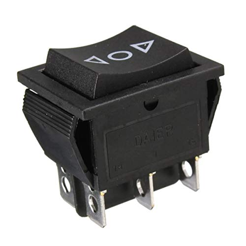 Momentáneo interruptor de botón AC 250V / 125V 10A / 15A Interruptor de 12 voltios 6-Pin ventana DPDT momentánea de alimentación Rocker Empuje el interruptor de botón