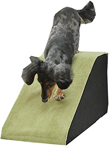 A-ffort Green Pet Slope Stairs, Small/Large Dog/Cat Pet Ladders Anti-Slip for High Beds Sofa Car, 30/40/50cm High (Size : 70x33x30cm)