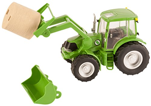 Big Country Toys Tractor & Implements - 1:20 Scale - Farm Toys - Green Toy Tractor