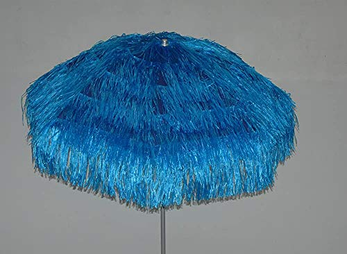 Curish Ombrelloni da Esterno, ombrelloni Circolare, 200cm, pacciamatura di Paglia,Blue