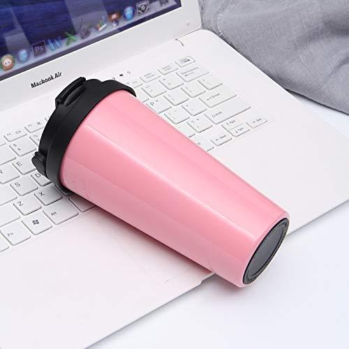 Xiaobing Taza de Aislamiento al vacío Taza de café portátil Simple Taza de Coche de Ocio de Moda para Coche -Pink-500ml-G1099