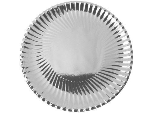 SANTEX 4101-4-30, Sachet de 10 assiettes de 30 cm métallique argent