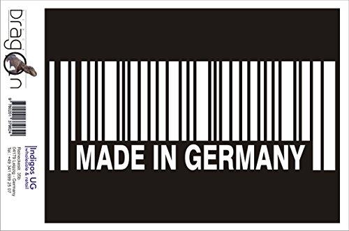 INDIGOS UG Aufkleber Autoaufkleber - Made in Germany - 120x46 mm weiß Auto Laptop Tuning Sticker Heckscheibe LKW
