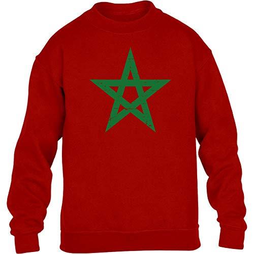 Fantrikot Nationalmannschaft Marokko Kinder Pullover Sweatshirt L 134/146 Rot
